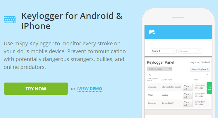 free keylogger for android