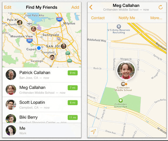 spy iphone with find my friends